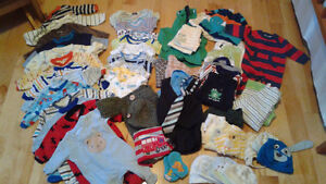 HUGE Lot of NB and 0-3months Baby Boy Clothes