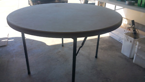 Plastic folding tables for rent or sale