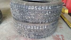 Pair of 2 Yokohama Avid C33 Commercial 225/65R16 tires (85% trea
