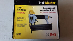 Like new 2 in 1 trademaster air nailer Cambridge Kitchener Area image 1