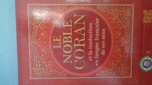 Noble coran 3 langues