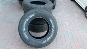 """SAVE Brand New Goodyear Fortitude 17"""" M+S truck tires. Ford Chev"""