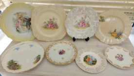 Collectors Lady tea plates