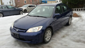 2005 Honda Civic LX 4dr Sedan, automatic, sunroof, low mileage