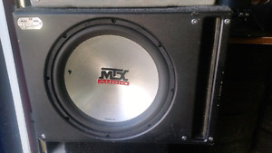 15inch mtx subwoffer, no amp, Spare sealed box  15