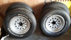 Goodrich Radial tires and rims  ,almost new 4 x  P215/70R14