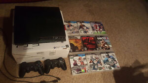 Ps3 slim w/ controllers & games 160GB