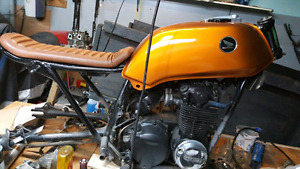 1973 honda cb500 four project with cb550 engine