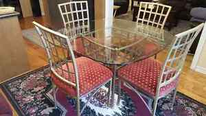 Dinning set, table and 4 chairs