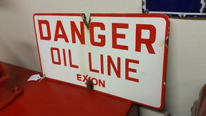 Vintage Porcelain Advertising Oil Exxon
