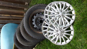 4 winter tires on rims with tps