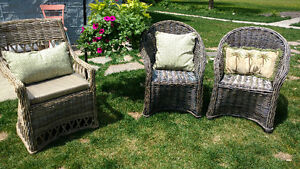 Brand New Hand Woven Rattan Dining Chair Arm Chair Kobu Sarnia Sarnia Area image 4