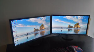 """Two 28"""" ASUS LCD Monitors for sale - $250 each"""
