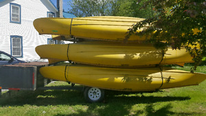 Canoes and Trailer