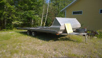 Remeq 4 place snowmobile trailer