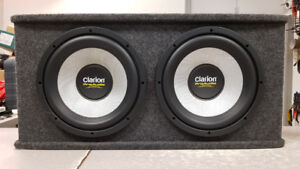 "12"" Clarion Subs in Sealed JL Audio Box"
