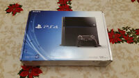 PS4 with games and controllers