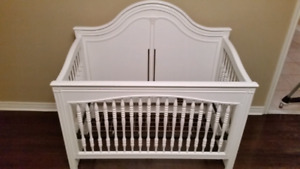 MUST GO solid maple crib Young american