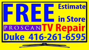 Proscan, LED TV, REPAIR, FREE ESTIMATE, ANY SIZE, No Power