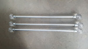 IKEA CURTAIN RODS - SET OF THREE - 30 INCHES LONG