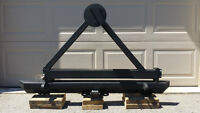 Classic Rock Crawler Bumper and Tire Carrier with Receiver Hitch