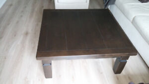 COFFEE TABLE - square solid wood