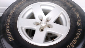 Factory jeep cherokee wheels and tires