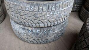 Pair of 2 Sailun Ice Blazer WST1 235/70R16 WINTER tires (90% tre