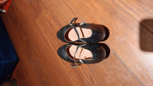 Ladies size 7 black character dance shoes