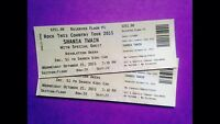 2 tickets for Shania Twain in Gp