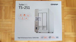 QNAP TS-251 2 bay Intel 2.41 GHZ NAS with Remote
