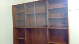 Teak Hutch/display cabinet