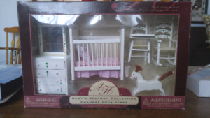 Baby' bedroom miniature furniture