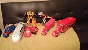 Jouets disney cars, toy's story et transformer