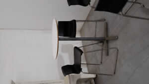 Bar height cafe table and 2 chairs - 1 set left