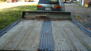 8x10 galvanized snow mobile trailer with snow shield..