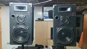 Kit de DJ amateur/Haut parleurs/speakers/amplificateur/mixeur
