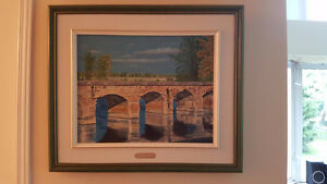 OIL ON CANVAS PAINTING BRIDGE IN POINTE DES CASCADES,QC West Island Greater Montréal image 1