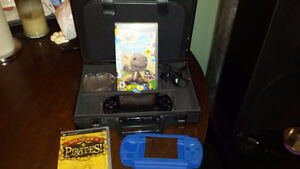 SONY PLAYSTATION PSP-1001 PORTABLE CONSOLE SYSTEM with extras