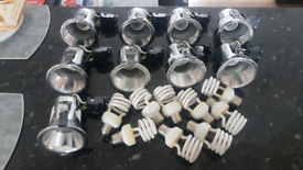 Sealing spot lights x9 with used bulbs