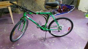 Vélo peugeot vert