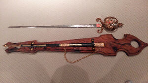 VINTAGE DECORATIVE SWORD AND SCABBARD