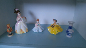 Three little girl figurines/collectables