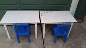 2 Ikea kids tables and chairs