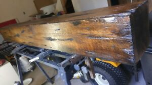 Rustic fireplace beam