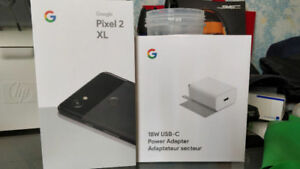 BNIB Google Pixel 2 XL 128GB with Spare Charger Sealed