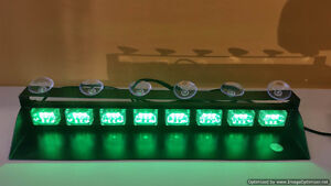 Green Volunteer Firefighter LED strobe warning dash light Peterborough Peterborough Area image 3