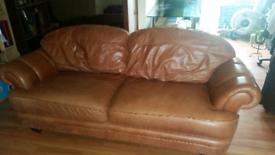 X3 seater leather sofas