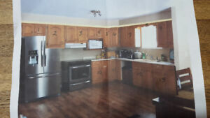 Oak kitchen cabinets -good used condition