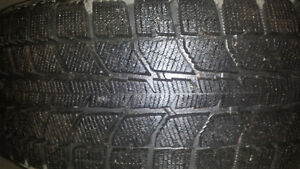 Four Bridgestone Blizzak tires
